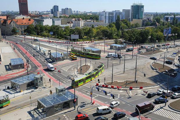 Ścieżki rowerowe na Rondzie Kaponiera w Poznaniu
