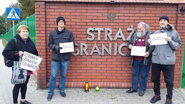 Protest pod białostocką siedzibą Straży Granicznej
