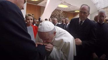 Marek Lisiński na spotkaniu z papieżem