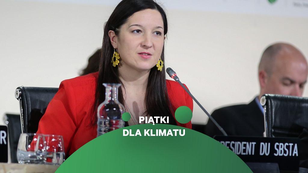 Lidia Wojtal - ekspertka think tanku Agora Energiewende, była polska negocjatorka klimatyczna, podczas szczytu klimatycznego w Paryżu