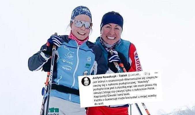 Patricija Eiduka, która trenowała z grupą Justyny Kowalczyk-Tekieli, w Davos zajęła najlepszą pozycję w historii startów w Pucharze Świata. Zawodniczkę skrytykowano w mediach społecznościowych, na co odpowiada Kowalczyk-Tekieli