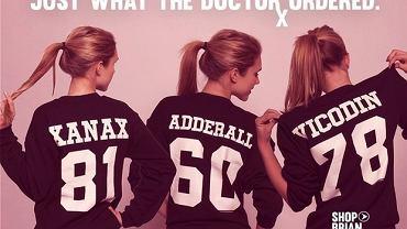 Koszulki Kitson LA z nazwami leków