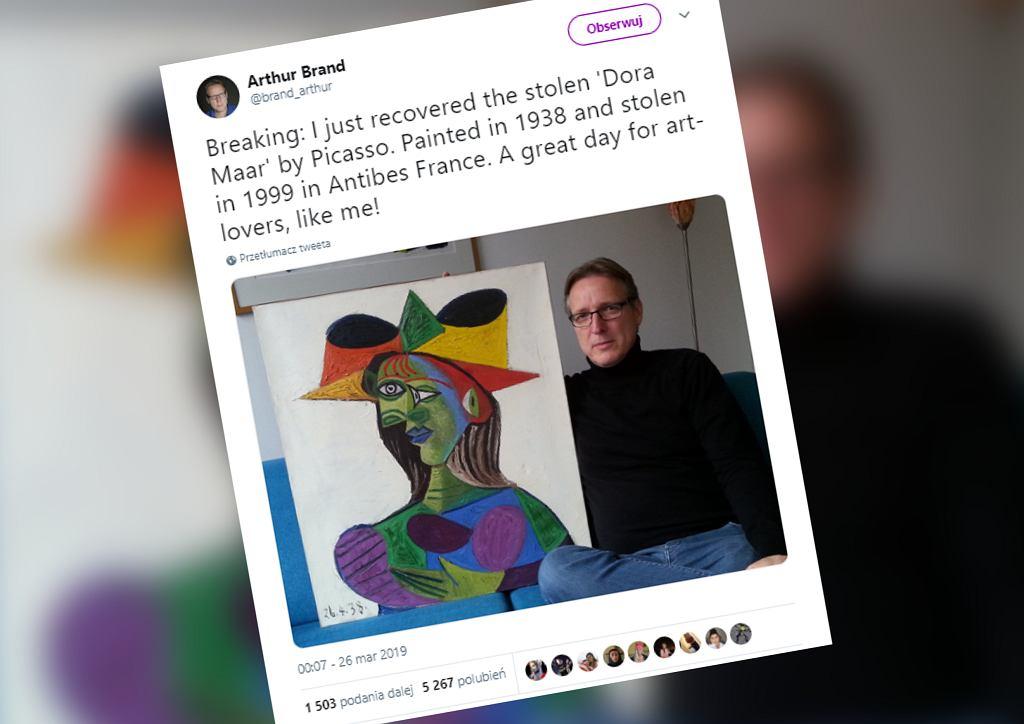 Odnaleziono skradziony obraz Pabla Pisassa. Arthur Brand odzyskał 'Portret Dory Maar'