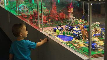 Edukacyjna wystawa budowli z klocków Lego. Pieniądze od rządu można wydać również na klocki.
