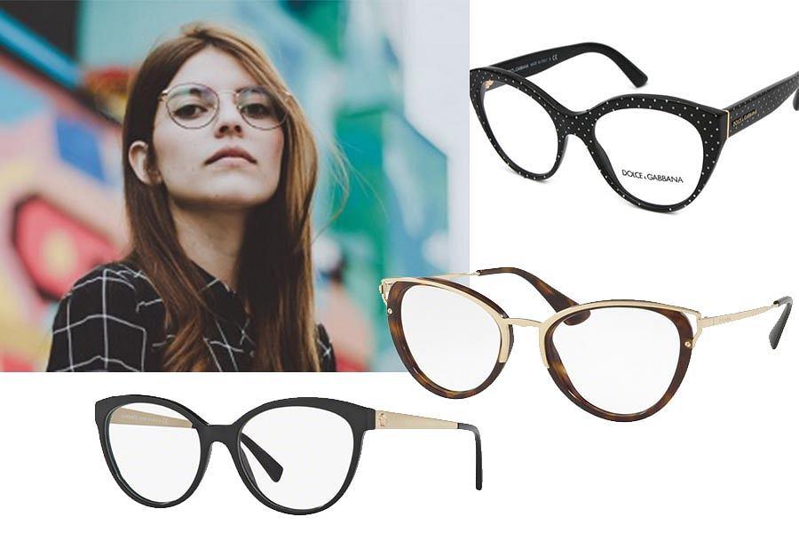 Okulary o kształcie kociego oka