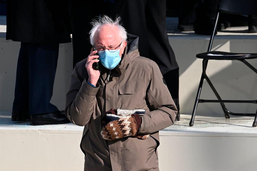 Bernie Sanders na inauguracji Joe Bidena