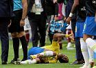 Mistrzostwa świata w piłce nożnej. Brazylia - Meksyk. Neymar znów obrzydliwie symulował?