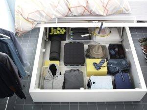 Przechowywanie ubrań, IKEA, konmari, marie kondo, magia sprzątania