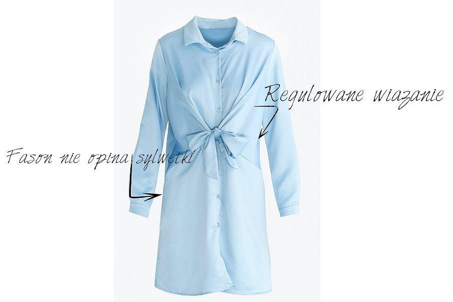 Te detale pozwalają dopasować sukienkę do sylwetki