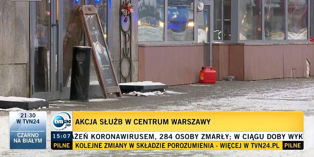 Kanister w centrum Warszawy