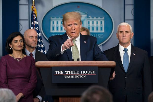 17.03.2020, konferencja prasowa Donalda Trumpa