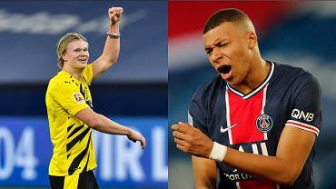 Kylian Mbappe (PSG) i Erling Braut Haaland (Borussia Dortmund)