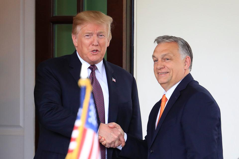 Donald Trump i Viktor Orban przed wejściem do Białego Domu, 13.05.2019