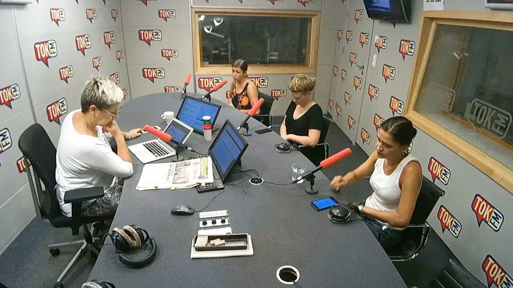 Komentatorki w studiu TOK FM: Małgorzata Kryszkiewicz, Agnieszka Wiśniewska i Magdalena Chrzczonowicz