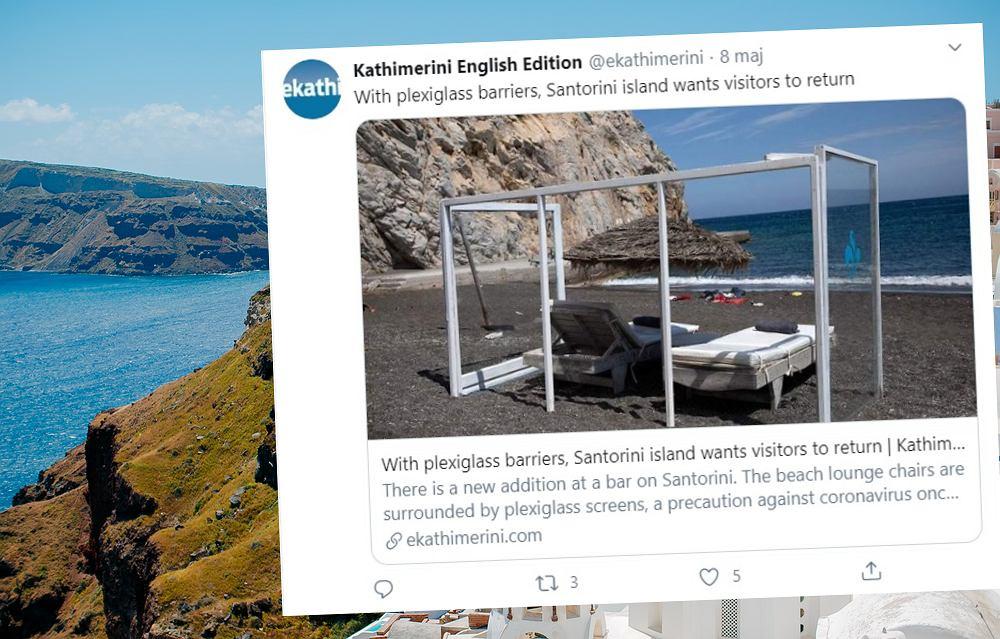Grecy już stawiają ścianki z pleksi na plażach