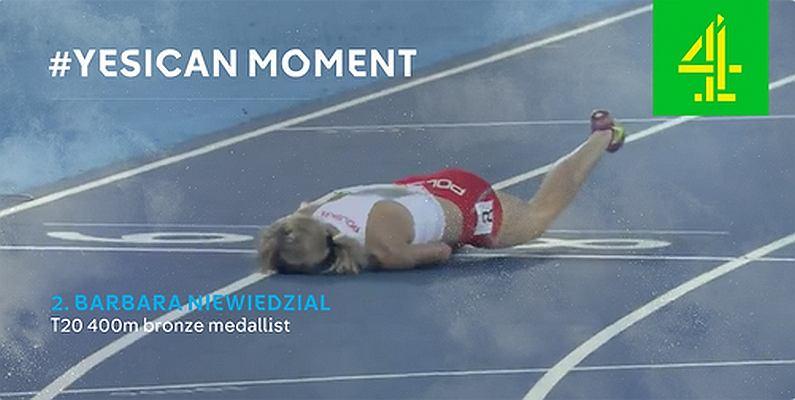 Igrzyska paraolimpijskie Rio 2016. Barbara Niewiedział na mecie biegu na 400 m