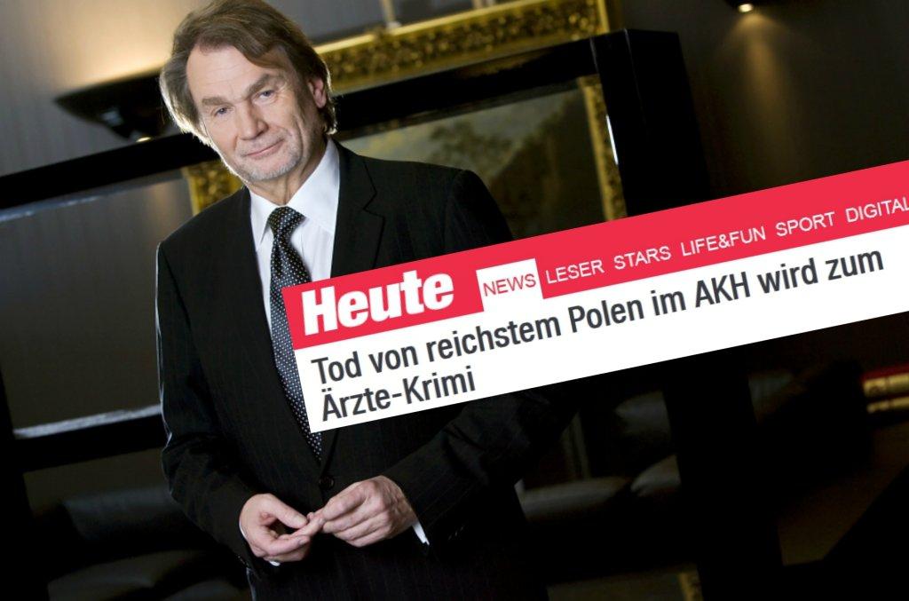 Jan Kulczyk - austriacka gazeta sugeruje śmierć na skutek błędu lekarskiego