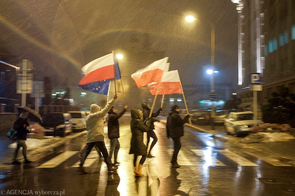 Protest mieszkańców Rzeszowa w obronie niezawisłości sadów