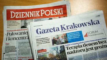 'Gazeta Krakowska' i 'Dziennik Polski', dzienniki wydawane w Krakowie przez Polska Press przejęte przez Orlen.