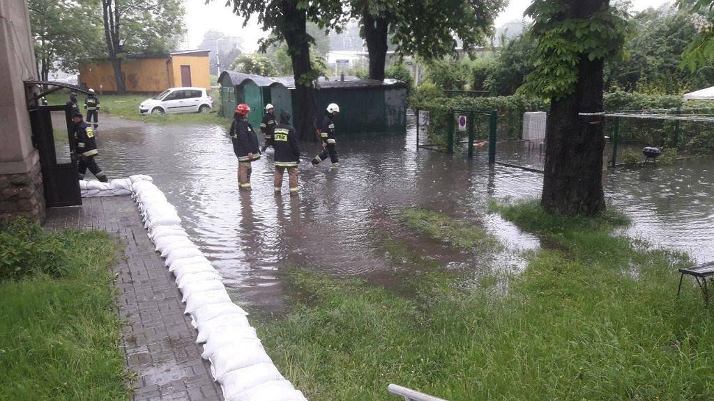 Lokalne podtopienia na Śląsku (fot. Facebook/Jarosław Wieczorek - Wojewoda Śląski)