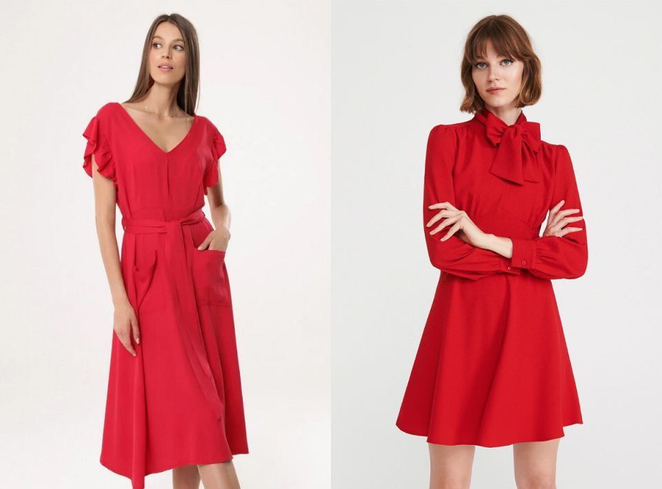 proste czerwone sukienki na wesele