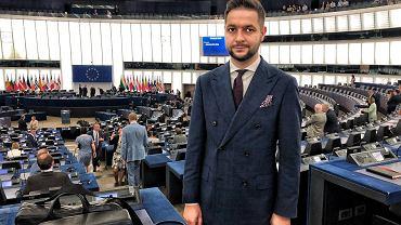 Patryk Jaki pierwszego dnia prac w Parlamencie Europejskim