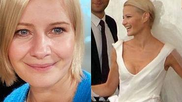 Małgorzata Kożuchowska wrzuciła niepublikowane zdjęcie ze ślubu. Suknia piękna, ale uwagę zwracał nietypowy bukiet