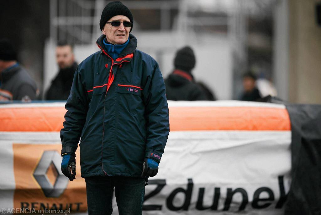 Trening żużlowców Wybrzeża na gdańskim torze. Grzegorz Dzikowski