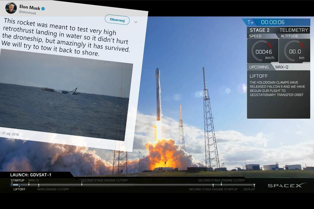 Rakieta SpaceX miała się rozbić, a przetrwała