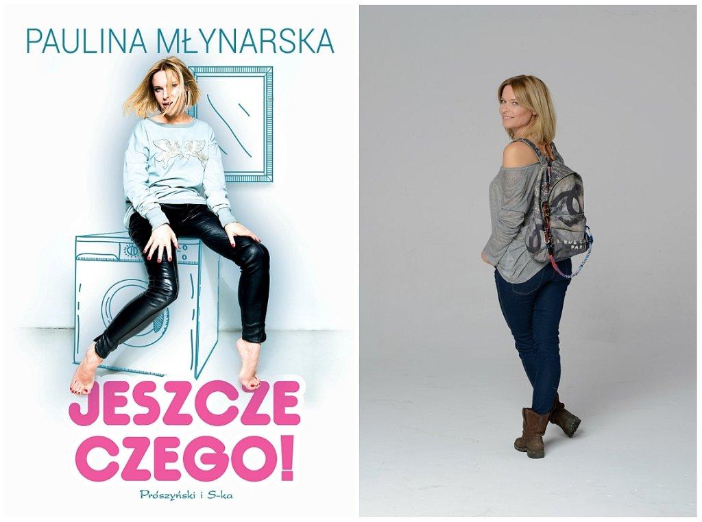 Paulina Młynarska i okładka jej książki (fot. materiały wyd. Prószyński i S-ka)
