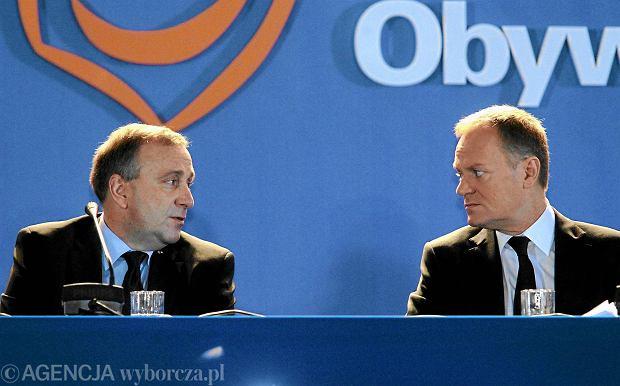 Grzegorz Schetyna i Donald Tusk. Zdjęcie z marca 2011 roku