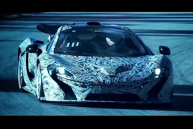McLaren P1 podczas testów na torze