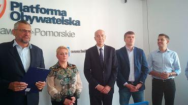 Od lewej: Tomasz Lenz, Iwona Hartwich, Antoni Mężydło, Marcin Skonieczka, Arkadiusz Myrcha