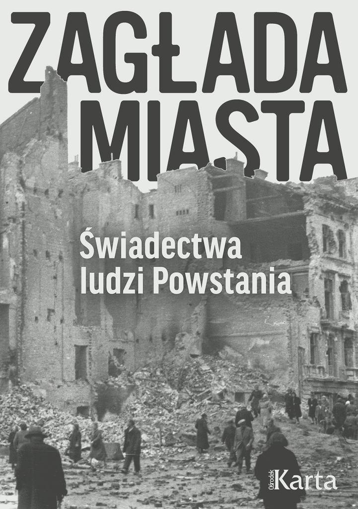 'Zagłada miasta' - okładka książki wydanej przez Ośrodek Karta