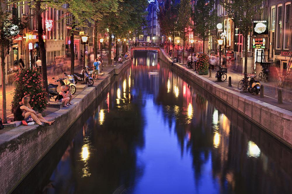 Amsterdam Holandia - dzielnica czerwonych latarni