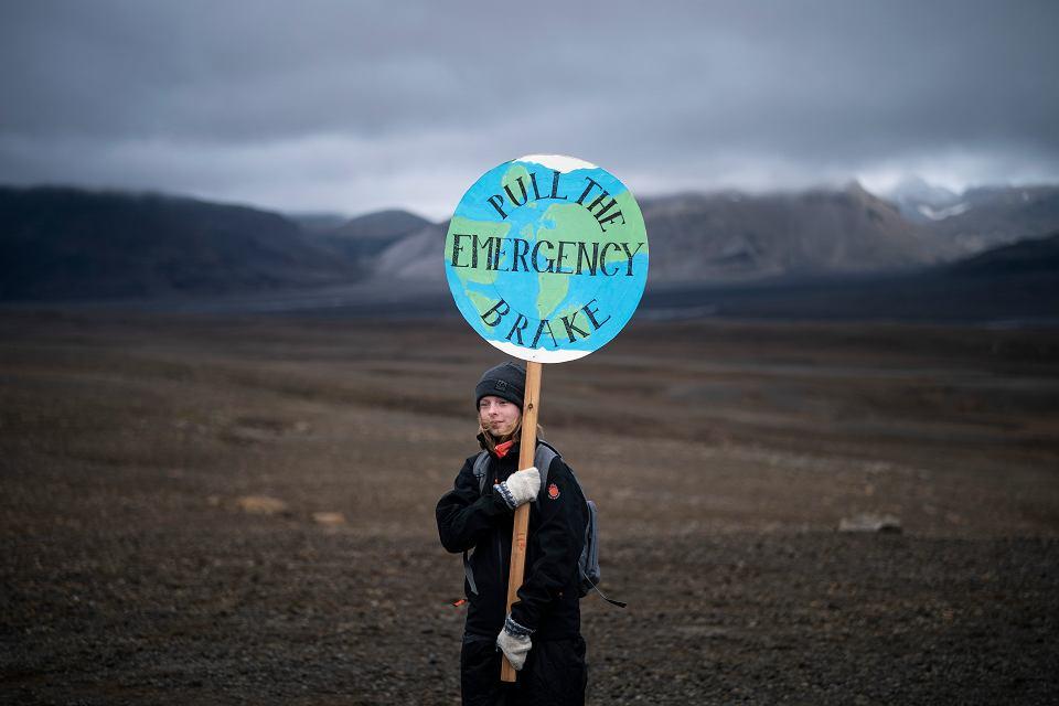 Protest przeciwko zmianom klimatycznym, Islandia, 18 sierpnia 2019 r.