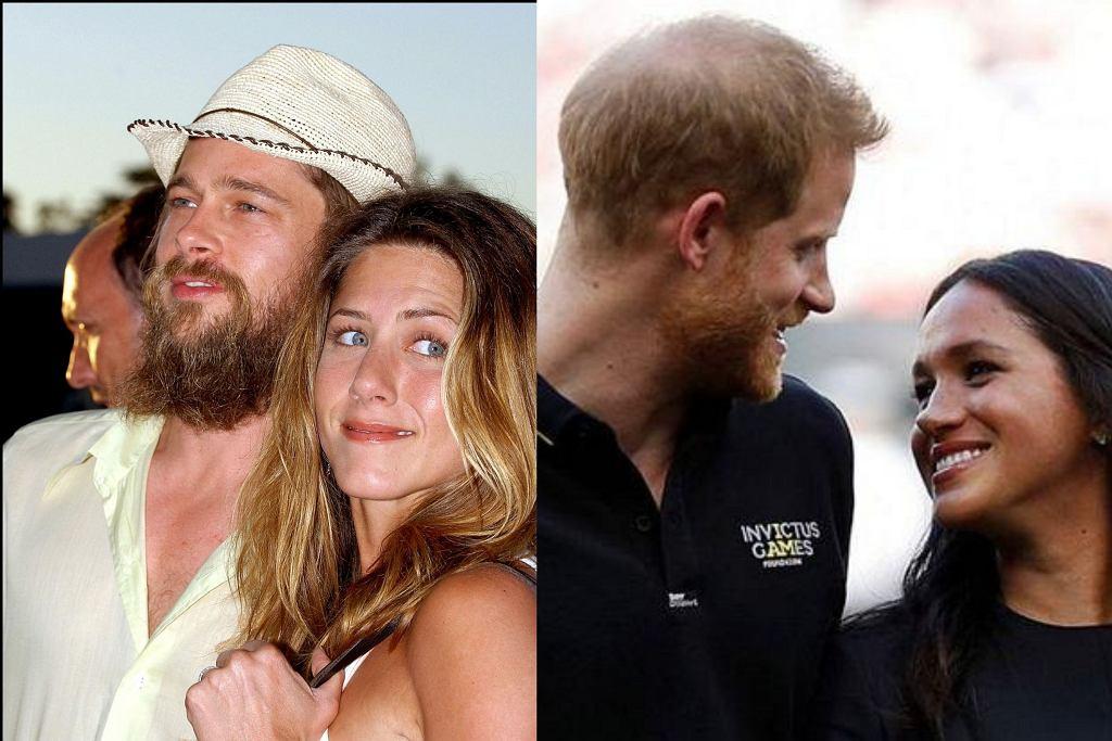 Brad Pitt i Jennifer Aniston, Meghan Markle i książę Harry