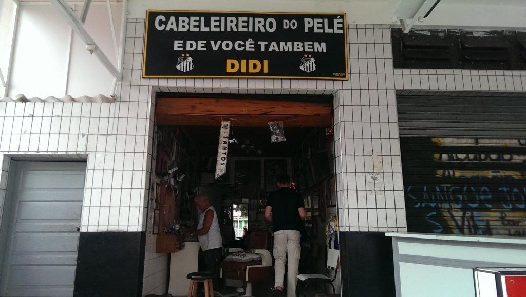 Zakład fryzjerski, z którego korzysta Pele