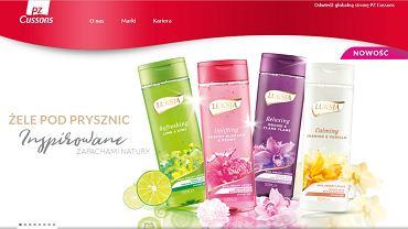 Reklama marki Luksja na stronie PZ Cussons