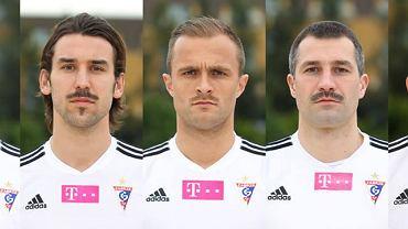 Piłkarze Górnika Zabrze z wąsami. Od lewej: Rafał Kosznik, Błażej Augustyn, Antoni Łukasiewicz, Radosław Sobolewski, Marcin Wodecki.