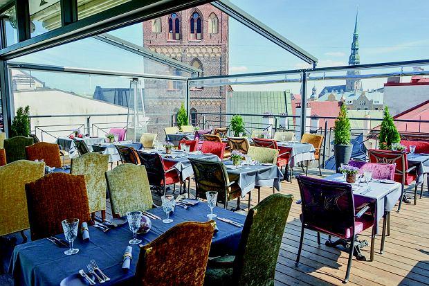 Taras hotelu Gutenbergs w Rydze