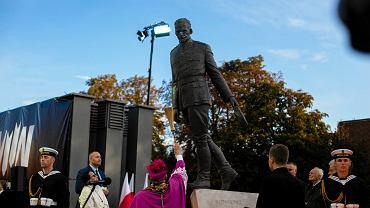 Odsłonięcie pomnika rotmistrza Witolda Pileckiego przed Muzeum II Wojny Światowej w Gdańsku