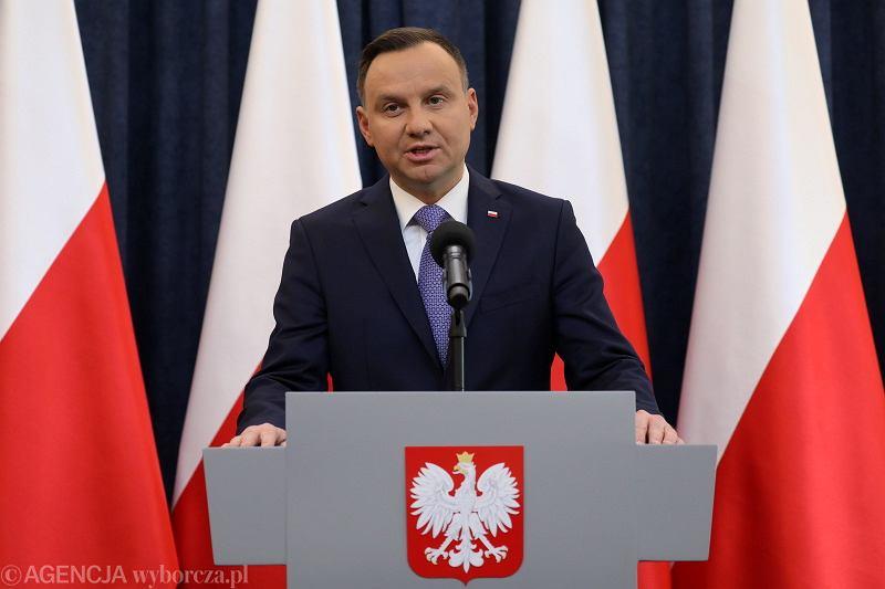 Oświadczenie Prezydenta Andrzeja Dudy w sprawie ustawy degradacyjnej, Pałac Prezydencki 30.03.2018