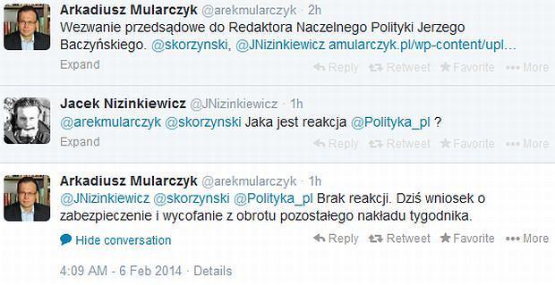 Arkadiusz Mularczyk na Twitterze