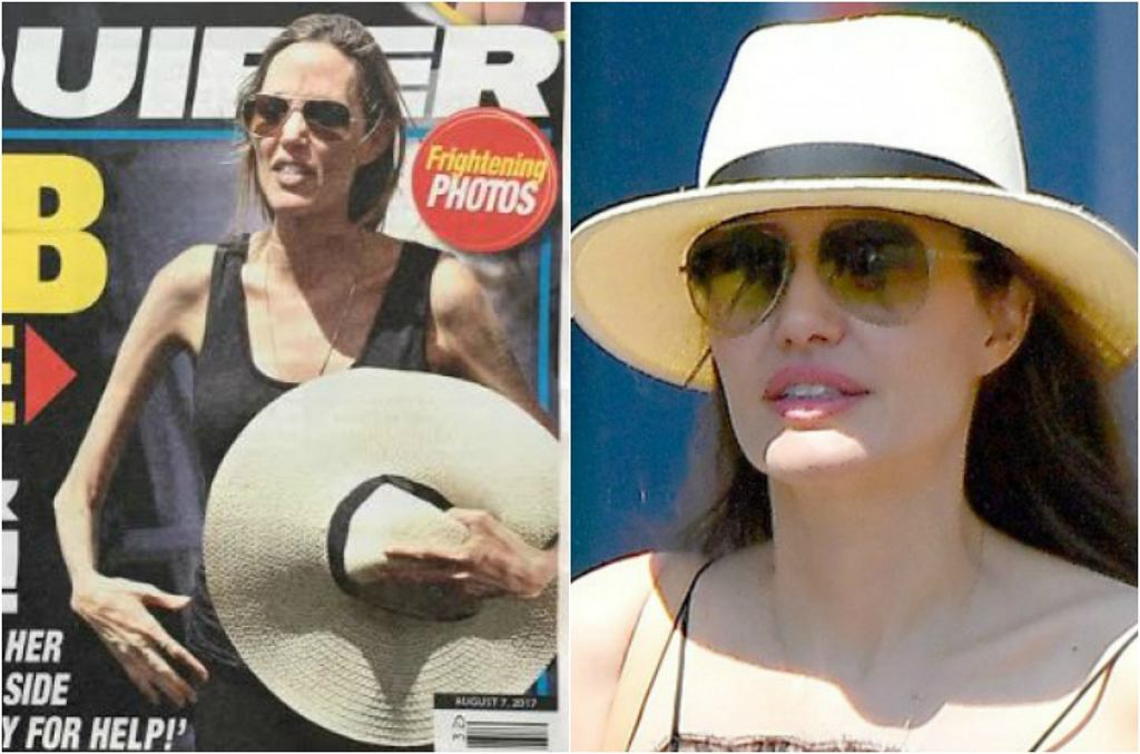 Angelina Jolie na okładce 'National Enquirer'