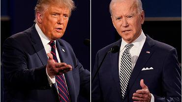 Prezydent Donald Trump i Joe Biden podczas debaty prezydenckiej, 29 września 2020.