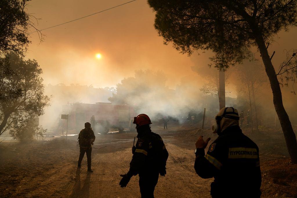Sierpniowe pożary w Grecji