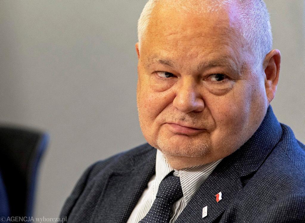 Adam Glapiński podczas konferencji prasowej w NBP. Warszawa, 16 maja 2018