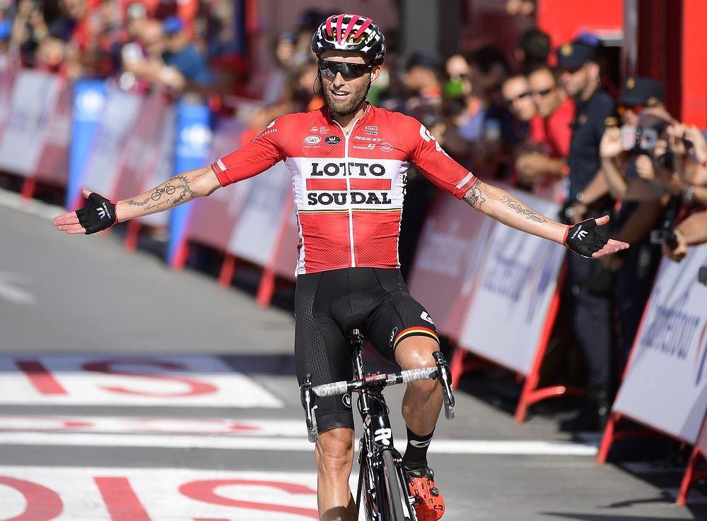 31.08.2017 , Antequera . Tomasz Marczyński zwycięzcą 12 etapu 72. Vuelta Espana