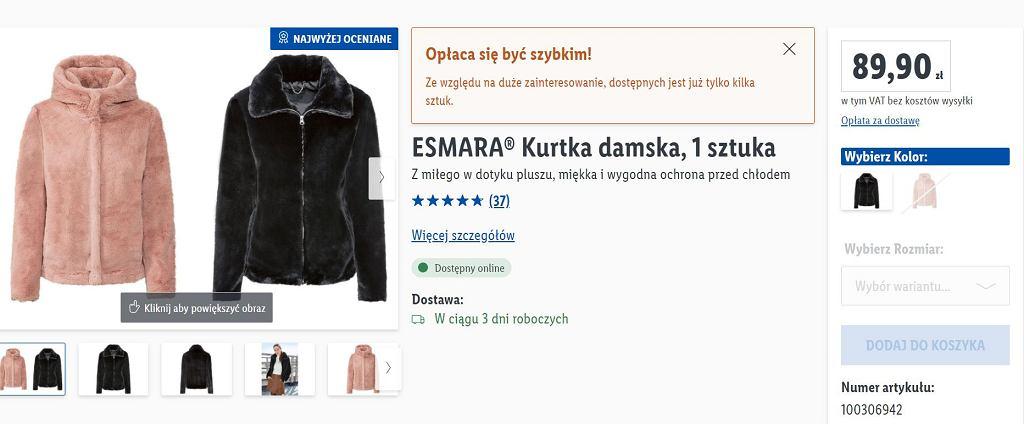 Lidl sprzedaje hitową kurtkę za mniej niż 90 zł. Podobnie kupicie w sieciówkach za dużo więcej